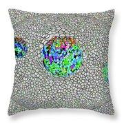 Gauzean Orbits 3 Throw Pillow
