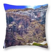 Gavarnie Circus Waterfall Throw Pillow