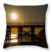 Gaviota Sunset Throw Pillow