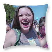 Gay Pride Parade 3 Throw Pillow