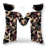 Gays In The Military Throw Pillow