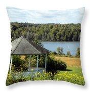 Gazebo And Caribou Lake Throw Pillow