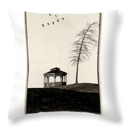 Gazebo And Geese Poster Throw Pillow