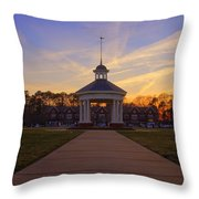 Gazebo At Sunset Throw Pillow