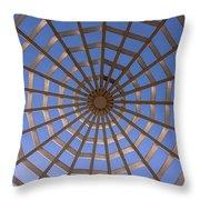 Gazebo Blue Sky Abstract Throw Pillow