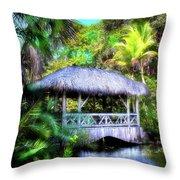 Gazebo In Paradise Throw Pillow