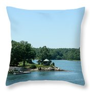 Gazebo On The Ocean Throw Pillow