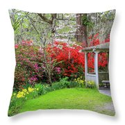 Gazebo View Throw Pillow