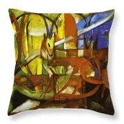 Gazelles 1913 Throw Pillow