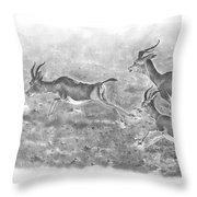 Gazelles Throw Pillow