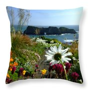Gazing Toward The Sea Throw Pillow
