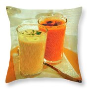 Gazpacho Aperitifs Throw Pillow