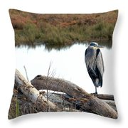 Gbh On Log Throw Pillow