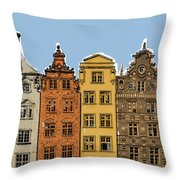 Gdansk Buildings Throw Pillow