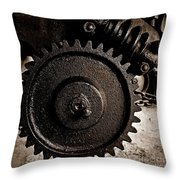 Gear And Screw Sepia 2 Throw Pillow