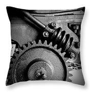 Gear In Monochrome Throw Pillow