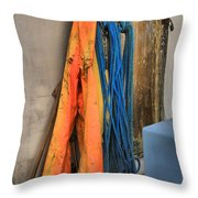 Gear On The Salmon Boat Throw Pillow