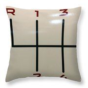 Gear Shift Knob Pattern Throw Pillow