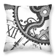 Geared Throw Pillow by Adam Zebediah Joseph