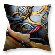 Geared For Art Throw Pillow by Bob Christopher