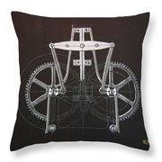 Gears No2 Throw Pillow