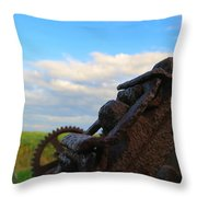 Gears Of History Throw Pillow