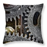 Gears Of Life Throw Pillow