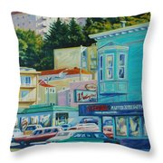 Geary Street Throw Pillow