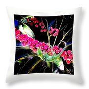 Gecko Berry Throw Pillow