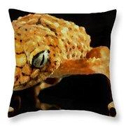 Gecko - Id 16218-130646-3343 Throw Pillow