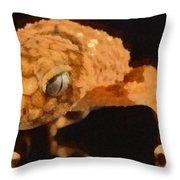 Gecko - Id 16218-130703-9950 Throw Pillow