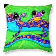 Geckos Throw Pillow