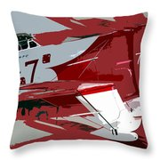Gee Bee Racer Throw Pillow