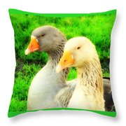 Geese Have Strong Affections For Others In Their Group Throw Pillow