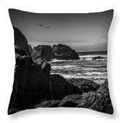 Geese Attack Throw Pillow