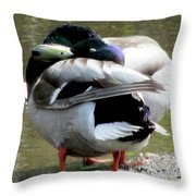 Geese Lovers Throw Pillow