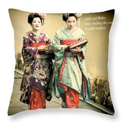 Geiko Haiku Throw Pillow
