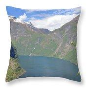 Geiranger Fjord Throw Pillow
