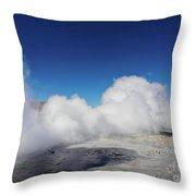 Geisers Sol De Manana, Bolivia Throw Pillow