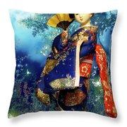 Geisha - Combining Innocence And Sophistication Throw Pillow