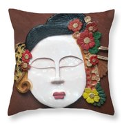 Geisha  Throw Pillow