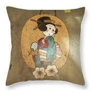Gheisha Throw Pillow