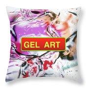 Gel Art #1 Throw Pillow