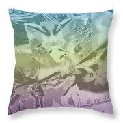 Gel Art Bw Tinted Throw Pillow