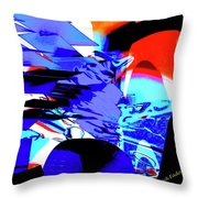 Blue Narcissus Throw Pillow