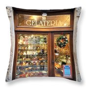 Gelateria In Assisi Throw Pillow