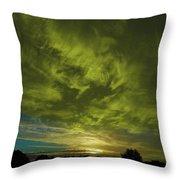 Gem Sunset Throw Pillow