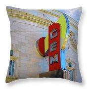 Gem Theater  Throw Pillow