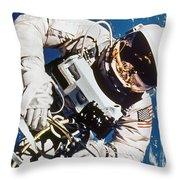 Gemini 4: Spacewalk, 1965 Throw Pillow