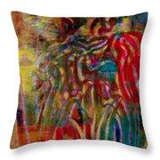Gemini Abstract Throw Pillow